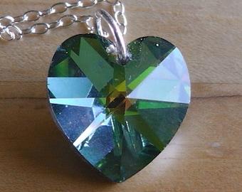 Swarovski Elements Vitrail Heart Pendant