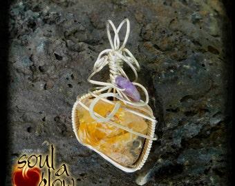 Inner Joy Pendant - Oregon Opal, Charoite