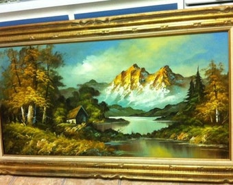 Landscape Oil Painting by Gordon Whitman. SIGNED / ORIGINAL / Beautiful / G. Whitman On Canvas