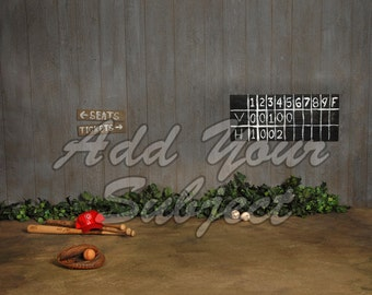 Digital Photo Backdrop Baseball Background
