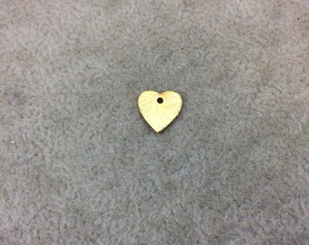 AZV Extra Small Sized Gold Plated Copper Pointed Heart Shaped Tiny Pendant/Charm Components - Measuring 9mm x 9mm - Sold in Packs of 10