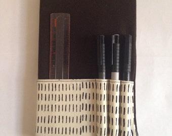 Classic Moleskine Notebook Cover Cotton Canvas Hand Silk-screen Print Handmade Hairy pattern pocket