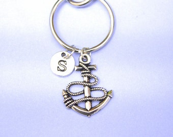 anchor keyring, anchor keychain, fisherman gift, sailor, captain personalised gift, anchor jewelry, seamen gift. gift for men, boyfriend