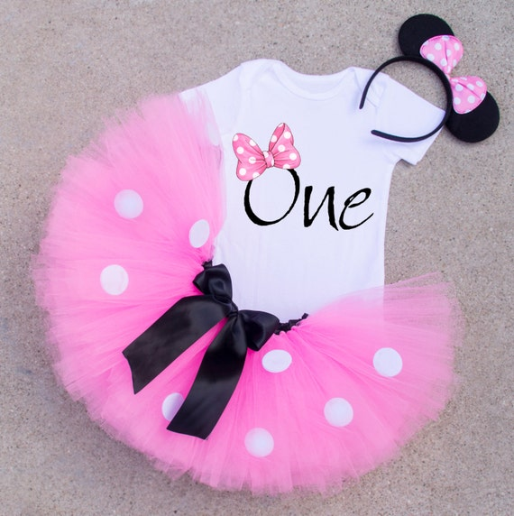 Minnie Mouse First Birthday Party Via Little Wish Parties: One Birthday Shirt Minnie Mouse Inspired 1st Birthday Shirt