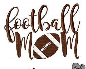 Football mom embroidery design 4x4 5x7 6x10 - jef file - pes file - football embroidery file - football season - football shirt - sports mom