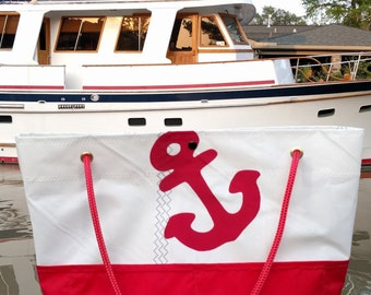 G Chava Reclaimed Sailcloth Tote