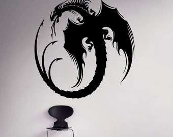 Dragon Vinyl Decal Monster Wall Sticker Gothic Home Interior Medieval Wall Graphics Bedroom Wall Art 3(dn)