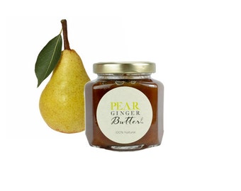 Gourmet Pear Ginger Butter // All Natural // New Hampshire Home Grown // 6 oz