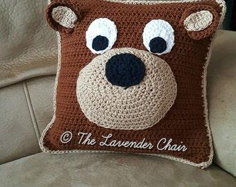 Teddy Bear Pillow Crochet Pattern *PDF FILE ONLY* Instant Download