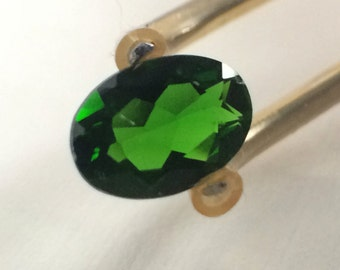 Chrome Diopside Oval Cut Loose Gemstone