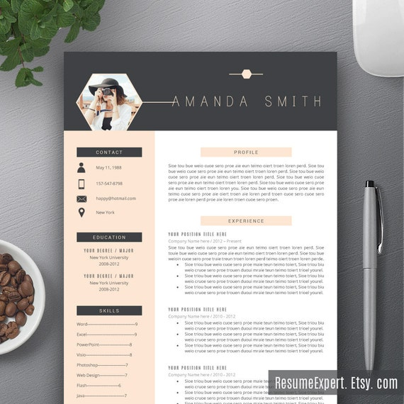 creative resume template    cv template cover by resumeexpert