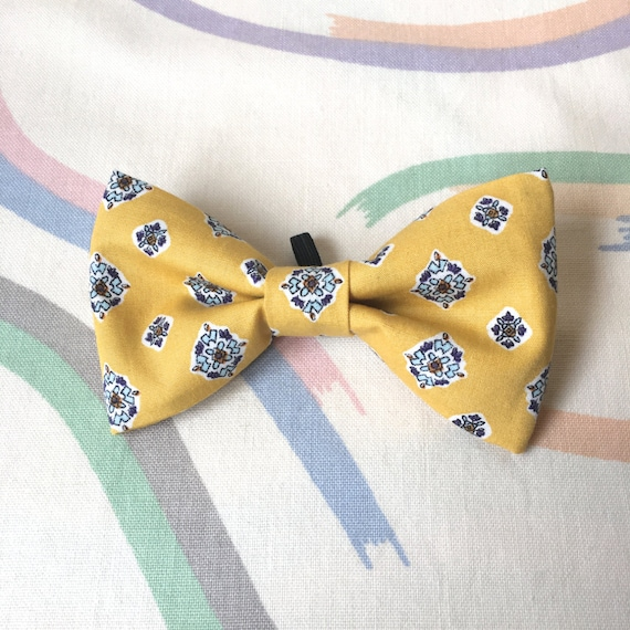 Etsy Dog Gift Baskets : Sale yellow crest pet bow tie gifts for pets