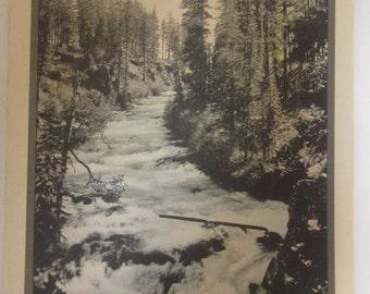 Beham Falls On The Deschutes River Near Bend Print