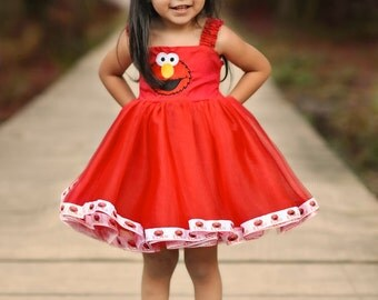 Elmo Themed Party Dress package.