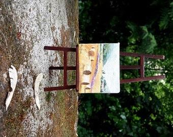 Original dollhouse oil painting - Miniature painting - Miniature landscape painting - country style - 1 12 dollhouse wall art
