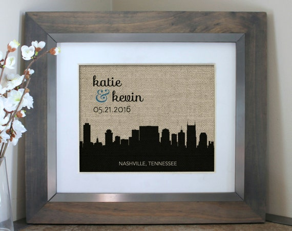 Choosing A Wedding Gift List : Gift for Couples Choose A City Skyline Personalized Wedding Gift ...