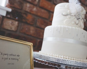 Famous Quotes in 1920s style to display at wedding