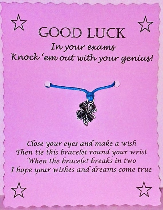 Good Luck On Your Exam Quotes: Exam Gift Wish Bracelet Good Luck Gift Good Luck Bracelet