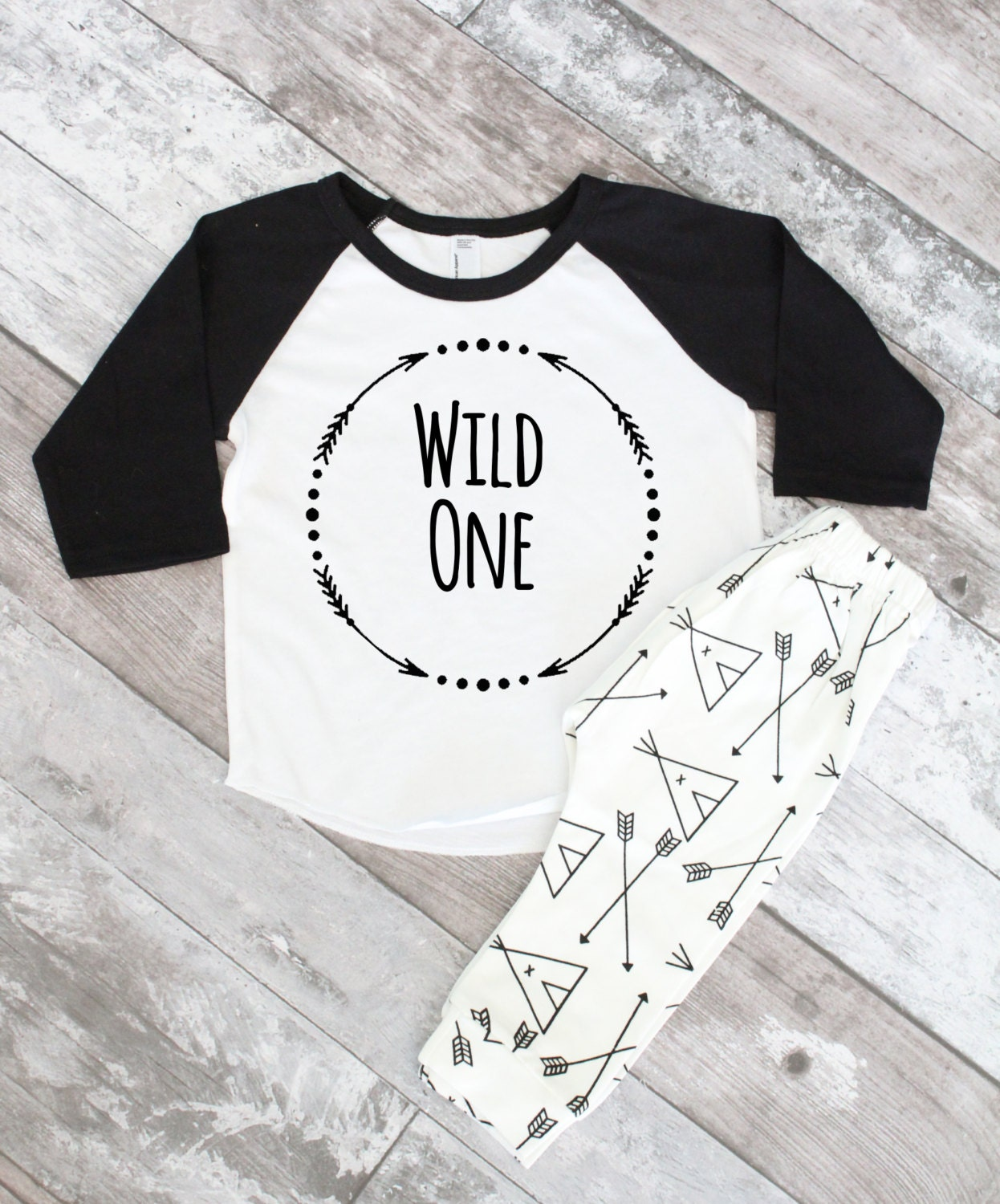 1st Birthday Shirt Wild One First Boy
