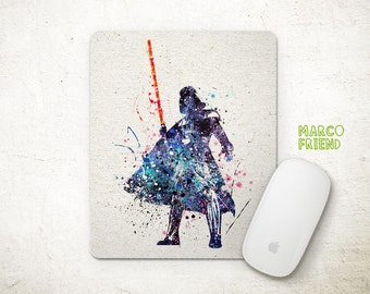 Star Wars Darth Vader Watercolor Art Mouse Pad - Mousepad - Home Decor - Gift - Kids Desk - Office Supplies - Star Wars Accessories - P15