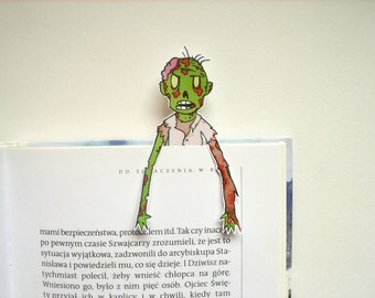 Zombie apocalypse bookmark - funny junk, printable art