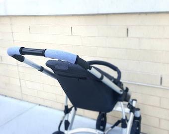 Stroller Handlebar Cover, Padded handlebar cover, Uppababy, Bugaboo, Baby Jogger, Bob revolution, Nuna Tavo, Britax, Gray Stroller handlebar