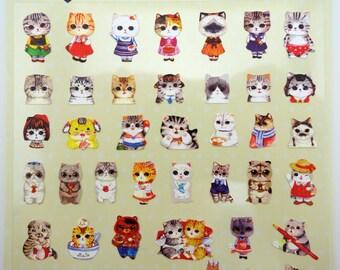 Cute cat stickers - kawaii cat stickers - cute stickers - Scottish Fold cats - kawaii stickers - cat paws - bunny rabbits - chubby cherubs