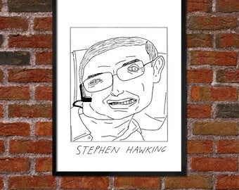 Badly Drawn Stephen Hawking - Poster