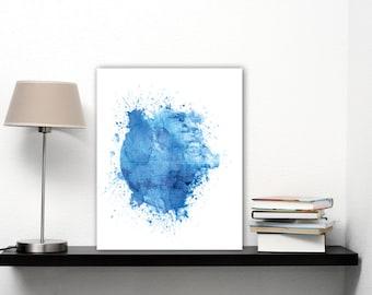 Death Star Print Yourself, Star Wars Wall Art Blue Watercolor Star Wars Home Decor Gifts, Death Star Poster Download, Globe Art, Globe Print