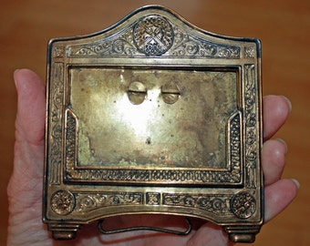 Antique Brass Frame, Picture Frame, Vintage, Photography, Brass Display