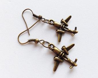 AIRPLANE Earrings Plane Earrings Airplane Jewelry Airplane Gift Plane Gift Pilot Gift Pilot Earrings Stewardess Earrings Stewardess Gift