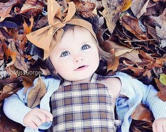 TOFFEE Gorgeous Wrap- headwrap; fabric head wrap; brown head wrap; boho; newborn headband; baby headband; toddler headband