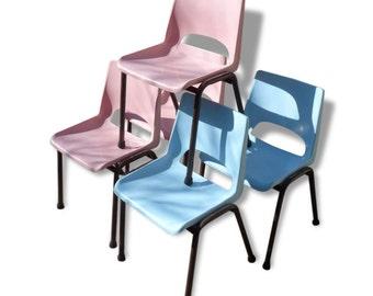 Chairs of school kindergarten vintage