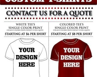Custom Shirts, SATISFACTION GUARANTEED - Custom Screen Printing, Screen Printing, Screen Print Order, Custom T-Shirt, Silkscreen Printing,