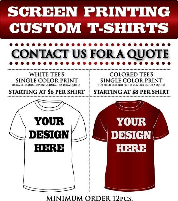Custom Shirts SATISFACTION GUARANTEED Custom Screen