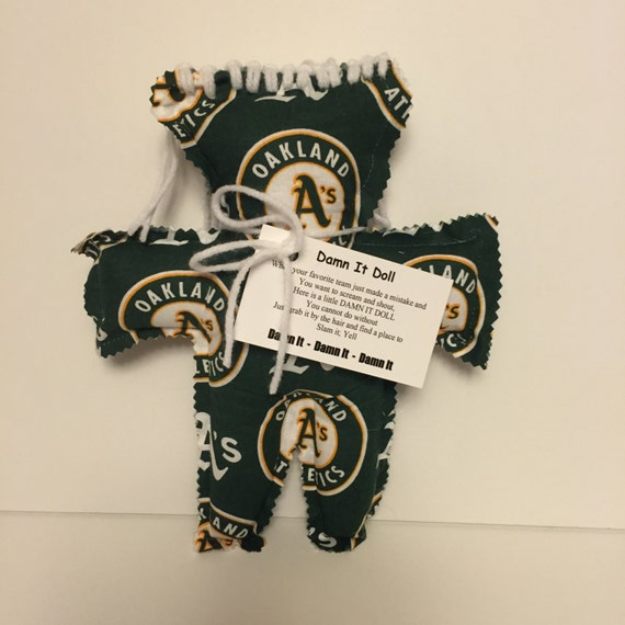Sports dammit doll damnit doll oakland a s by craftsbyjanetmarie
