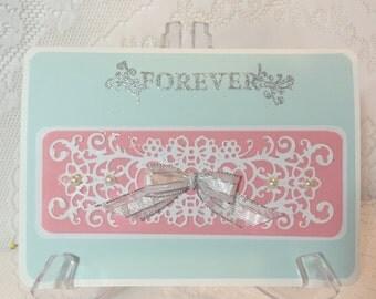 Wedding, Elegant Handmade, Greeting Card, Envelope included
