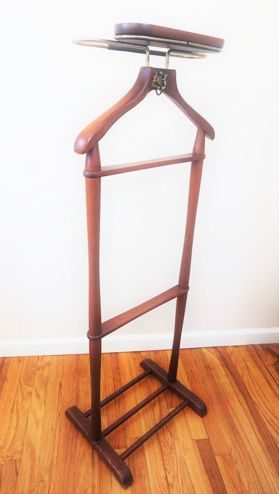 Vintage wooden men s valet stand from japan najico tokoyo