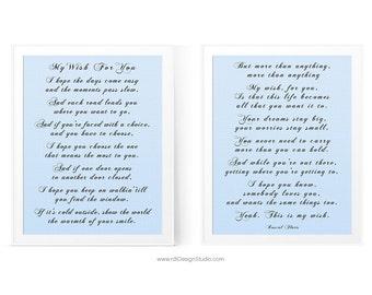 My wish lyrics etsy my wish for you set of 2 inspirational print song lyrics wall stopboris Gallery