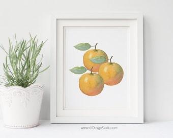 Kitchen Wall Print, Oranges Print, Home Decor, Printable Wall Art, Cadre, Gift Ideas, Housewarming Gift, Birthday, Christmas Gift, DT255