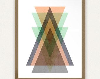 Triangles Geometric #1 - (8x10) Printable Art
