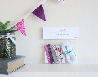 Mini Bunting Kit // Craft Kit // Flower bunting // Stocking Filler // Girls Bedroom // Home Decor