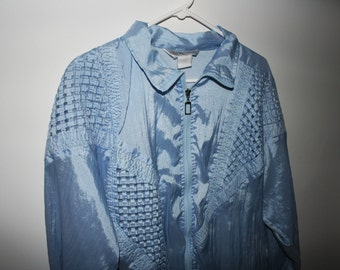 vintage sky blue jacket