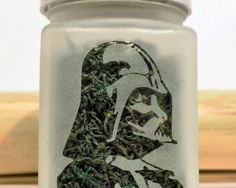Darth Vader Stash Jar - Star Wars Inspired Weed Accessories - Stash Jars, Weed Jars, Stoner Accessories - Weed Gifts, Star Wars Gifts