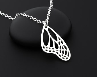 Monarch Butterfly Wing Necklace, Monarch Butterfly Jewelry, Butterfly Wing Necklace, Butterfly Wing Jewelry, Gardener Jewelry, Gardener Gift