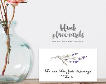 Wedding Place Cards DIY Printable PDF / Rustic Lavender Branch Twig / Food Card / Tent Card / Guest Seating Card ▷ Instant Download
