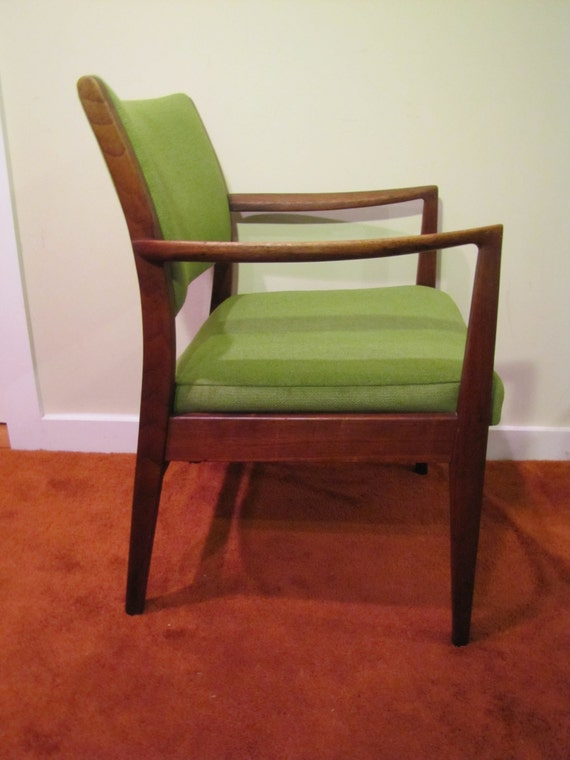 Mid Century Modern Arm Chair By Taylor Chair Company Green