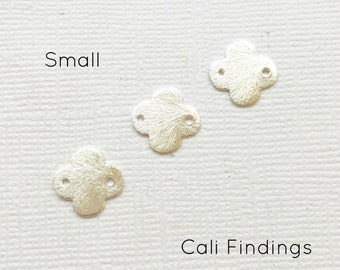 SMALL Silver Plated Brushed Finish Clover Links, Quatrefoil Connector, Clover Connector, Silver Clover, Gold Quatrefoil, Clover Links [1199]