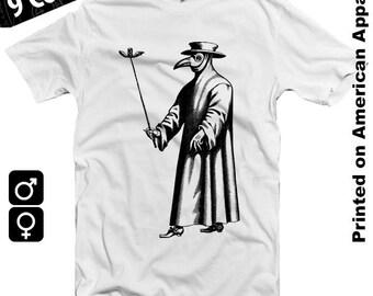 Plague Doctor B American Apparel Men/Women T-shirt S-XXL Dark Ages, Middle Ages, Black Plague, Bubonic, Black Death, Cool Gift