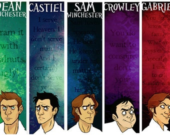 Supernatural Bookmark Set